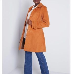 NWOT Orange pea coat